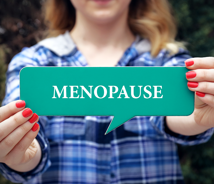 Menopause and its effects on skin and hair.